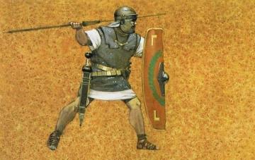 romain au combat