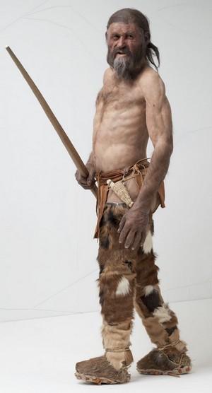 Reconstitution du corps d'Ötzi.