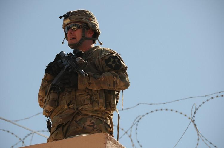 Soldat US en Afgha