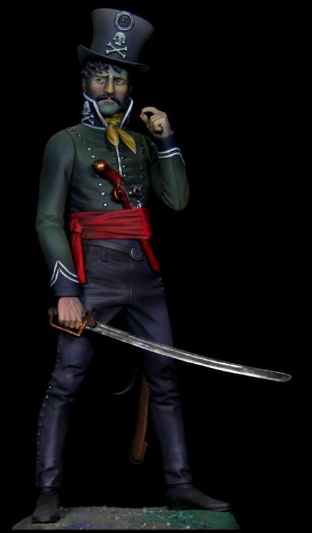 Figurine d'un rebelle espagnol (1810) peinte par Eduardo Sanchez