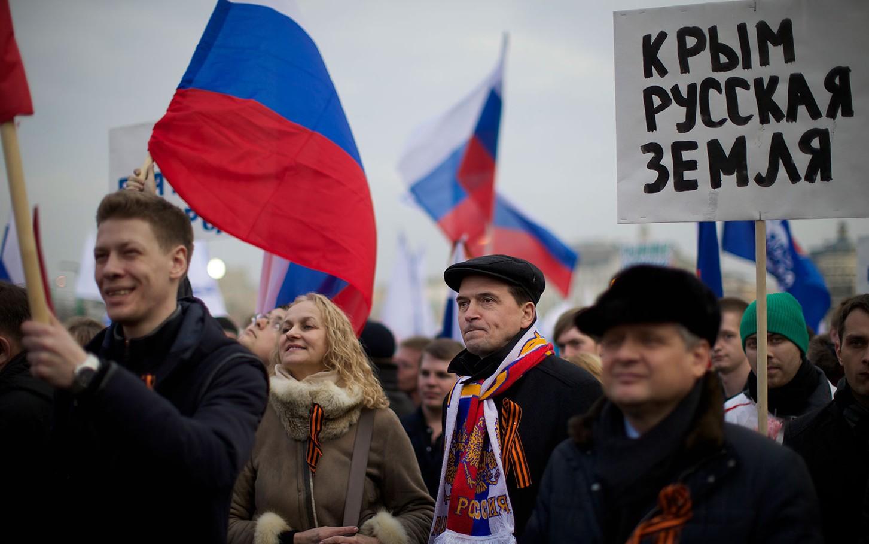 Manifestants pro-russes
