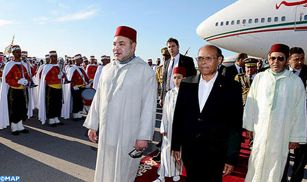 photo Mohamed VI en Tunisie