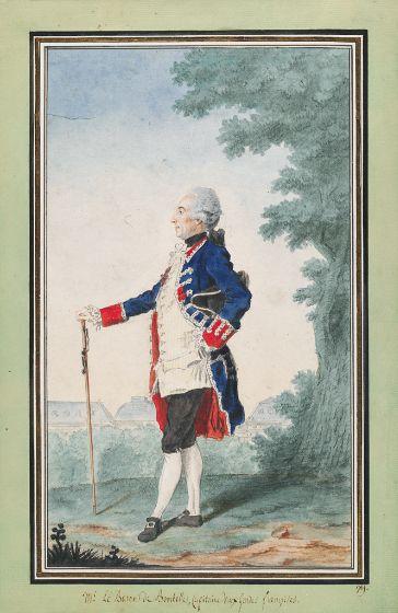 Joseph-Henri de Bombelles, capitaine aux gardes françaises en 1766.