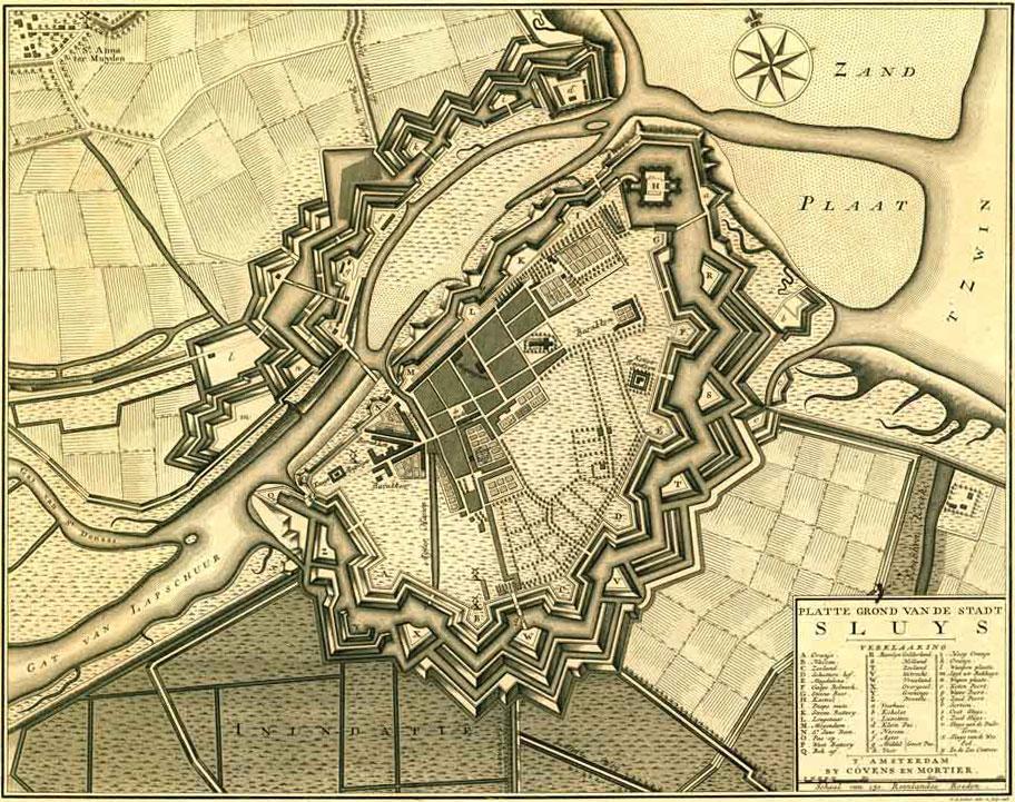 Fortification de Sluis (L'Ecluse) par Menno van Coehoorn.