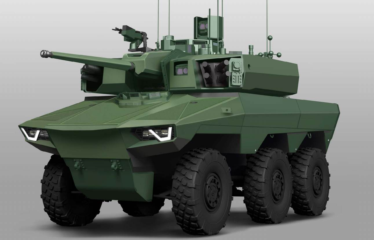 Jaguar. Engin blindé 6X6, classe 25 tonnes, de reconnaissance et de combat remplaçant l'AMX 10RC, l'ERC 90 et le VAB HOT.