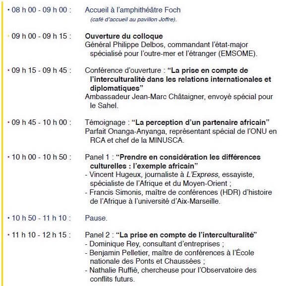 Colloque : L'interculturalité au prisme des actions militaires @ Ecole militaire | Paris | Île-de-France | France