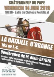 La bataille (d'extermination) d'Orange en 105 avant J.-C. @ Salle du Château Pontifical