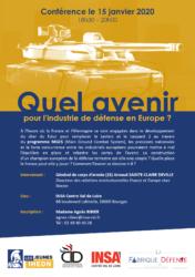 Quel avenir pour l'industrie de défense en Europe ? @ INSA Centre Val-de-Loire