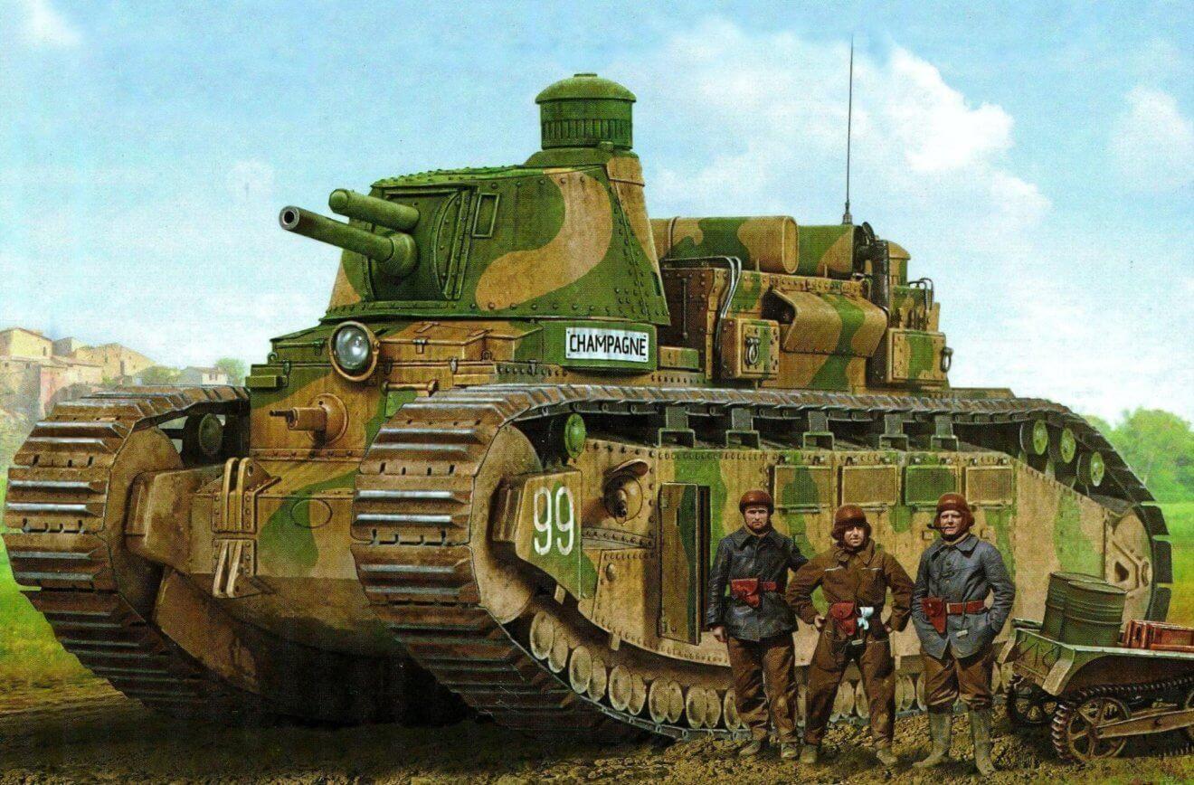 Char 2C : un char de rupture pour 1919 Char-FCM-2C-1320x868